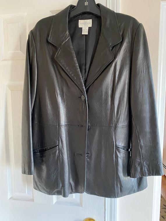 Vintage black leather jacket, Nordstrom