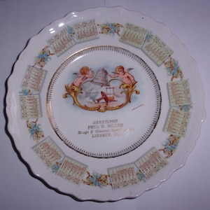 Gien. advertising plate 100 years Sanitaire Porcher