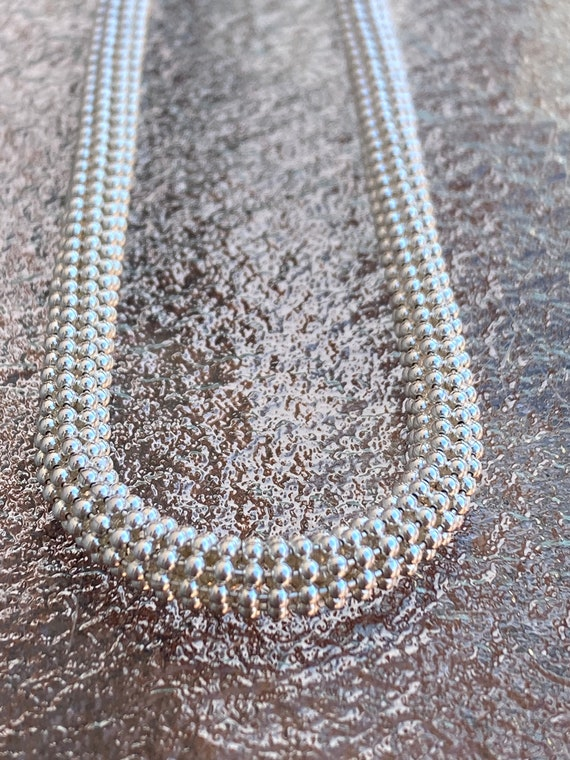Vintage, Sterling Silver, Ball Chain Multi-Strand