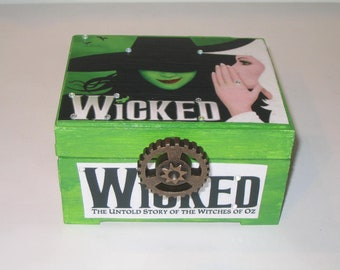 Broadway Decoupage Wooden Storage Jewelry Box Phantom CUSTOM MADE to ORDER Lion King Wicked Evan Hansen Beautiful Lion King