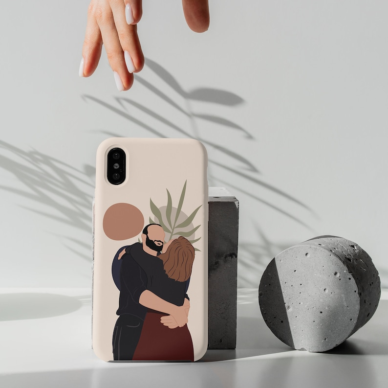 An abstract phone case is a special version of a picture phone case. Instead of printing a real pic, this customized phone case follows an abstract design, enabling it a unique gift for couples on their anniversary.