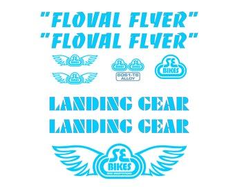 SE Racing Light Blue Standing Gear Decals Landing Gear Forks PK Ripper Quadangle