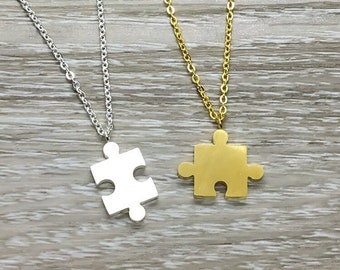 Puzzle Necklace Semi circle Mixed media Gold Gold Puzzle Piece Necklace Geometric White Nerdy Collar Necklace Plastic Toy necklace