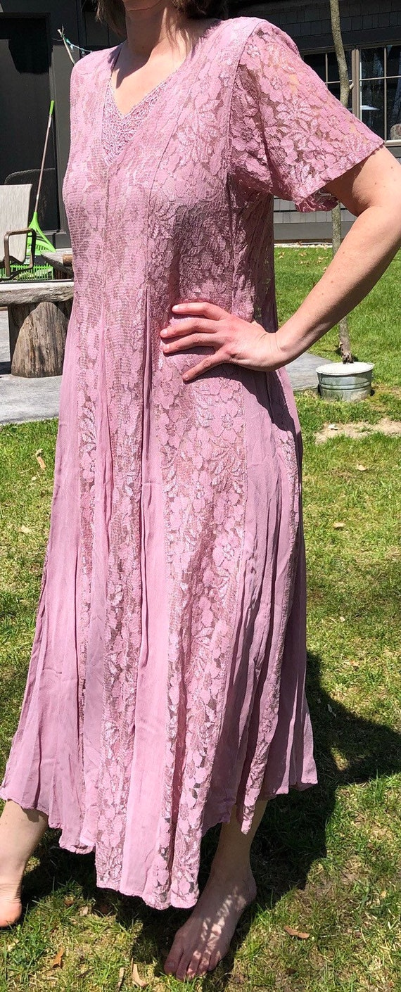 Dusty pink dress from 1980's - image 3