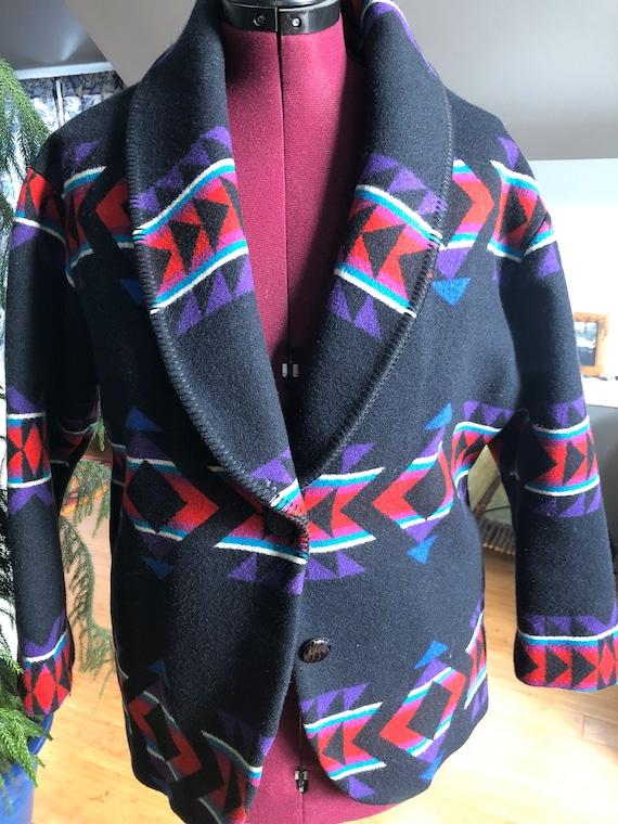 Pendleton wool blanket coat
