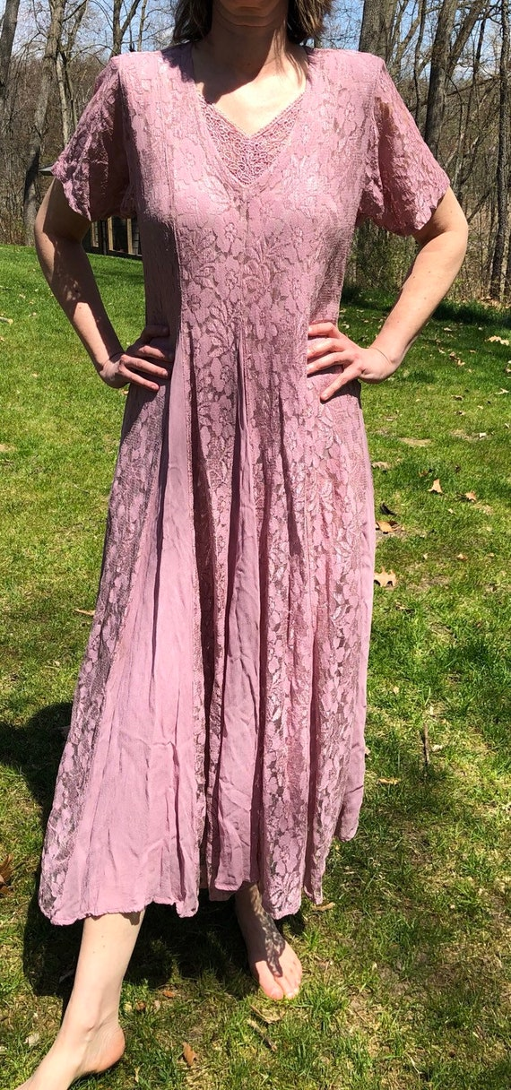 Dusty pink dress from 1980's
