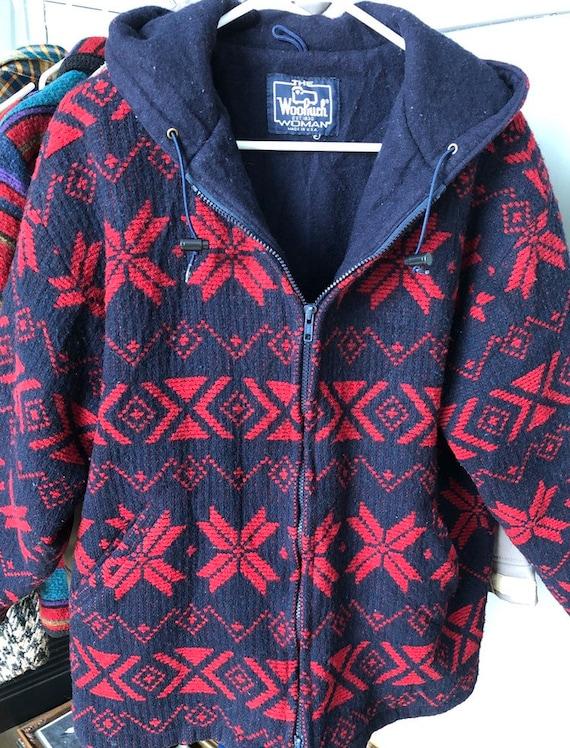 Woolrich hooded blanket coat