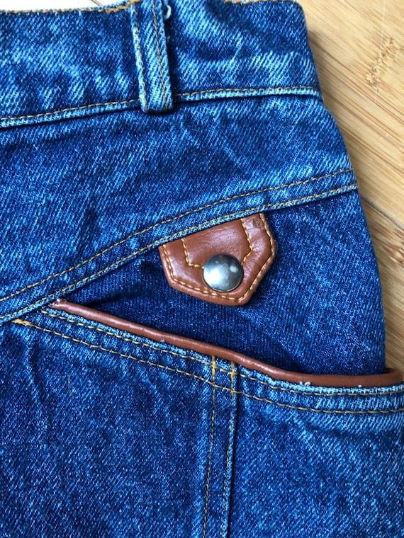 High waisted vintage jean skirt