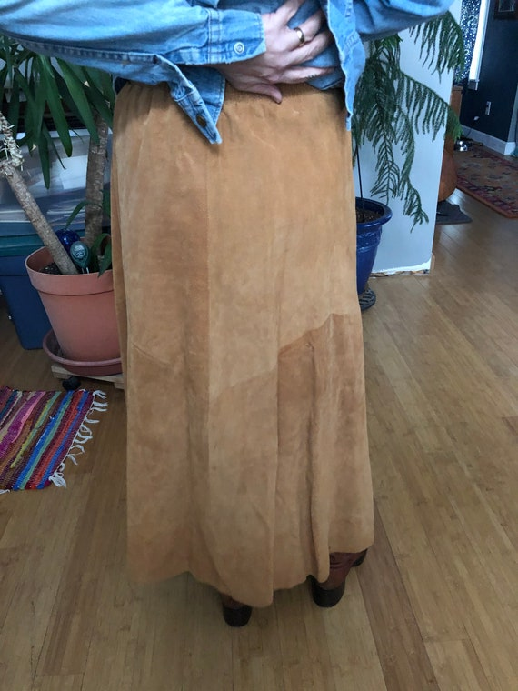 A great suede prairie type skirt