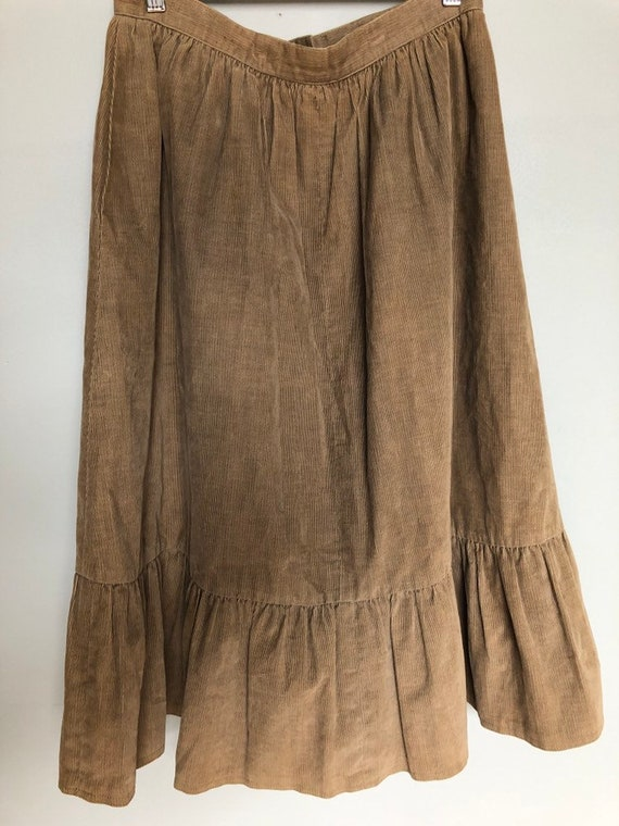 Great vintage corduroy prairie skirt