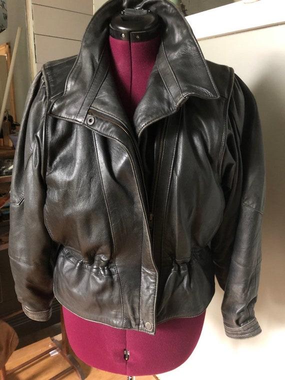 80's leather jacket