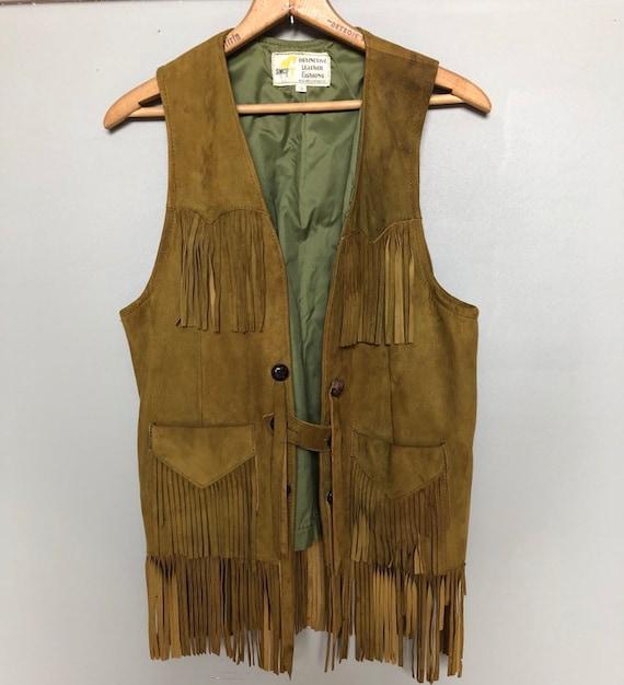 Amazing vintage suede fringe vest from 70's