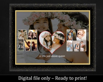 Mother's Day Gift idea - Personalized Gift - Photo gift - Mom photo collage - Gift for Her - Mama - Mom Birthday - Nana - Grandma gift