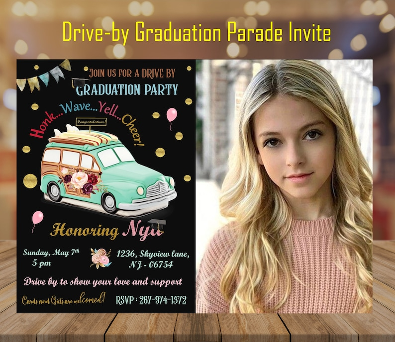 Graduation Drive by  Car Parade  Honk and wave  Daughter image 0