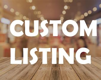 Custom Listing - Custom order