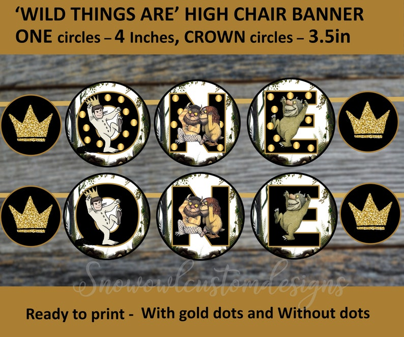 Where the wild things are  High chair Banner  Boy Birthday  image 0