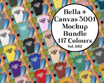 Bella Canvas 3001 Mockup Bundle Men's T-Shirt Mockup Unisex Bella Canvas 3001 092