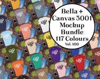 Bella Canvas 3001 Mockup Bundle Bella Canvas Mockup Womens T-shirt Mockup 100