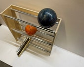 Unfinished Plywood Bowling Balls Rack Storage Organizer With Aluminum Rails Choose Size and material, Edges unfinished