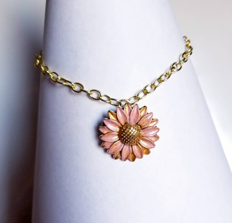 Sunflower charm Anklet