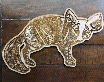 Fennec Fox // Birch Hand Drawn Sign // Illustrated Sign