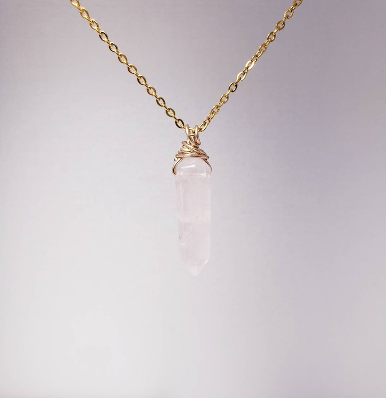 Rose Quartz Point wrapped in 1420 Gold-Filled Wire