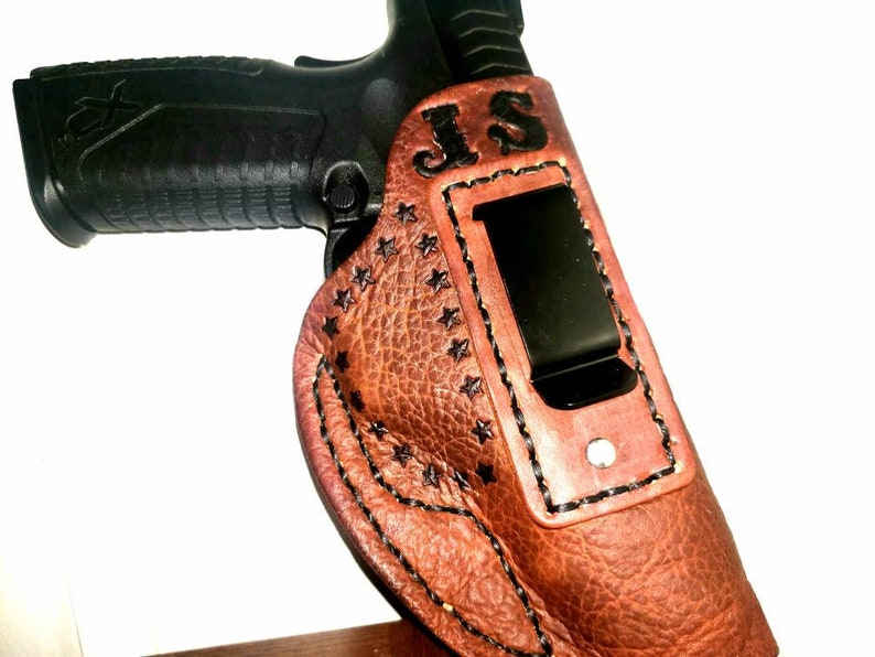 Hand tooled gun holsters  Custom personalized leather gun holsters   Concealed carry leather holster
