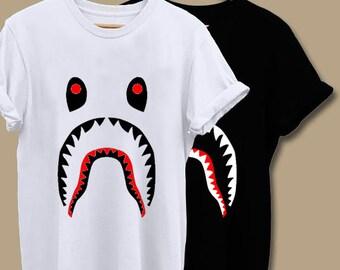 445163fc Hypebeast T Shirt, Bape Shark, Logo, Unisex Adult Clothing, Hypebeast,  Street Wear
