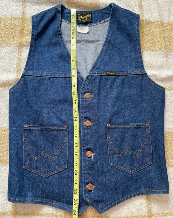 Vintage Wrangler Denim Vest - image 4
