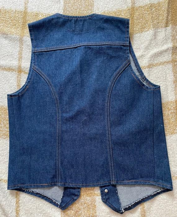 Vintage Wrangler Denim Vest - image 3