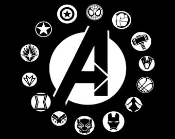 avengers character logos daeac newest marvel symbols with names - newsshastra