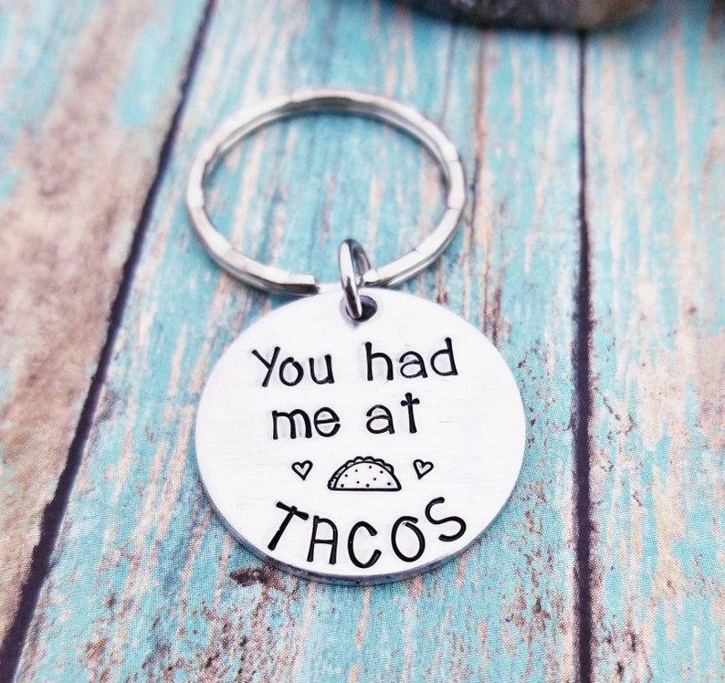 Taco Keychain You Had Me At Tacos 21st Birthday Gifts for Her Girlfriend Funny Boyriend Gifts Best Friend Key Ring Friendship Taco Gift