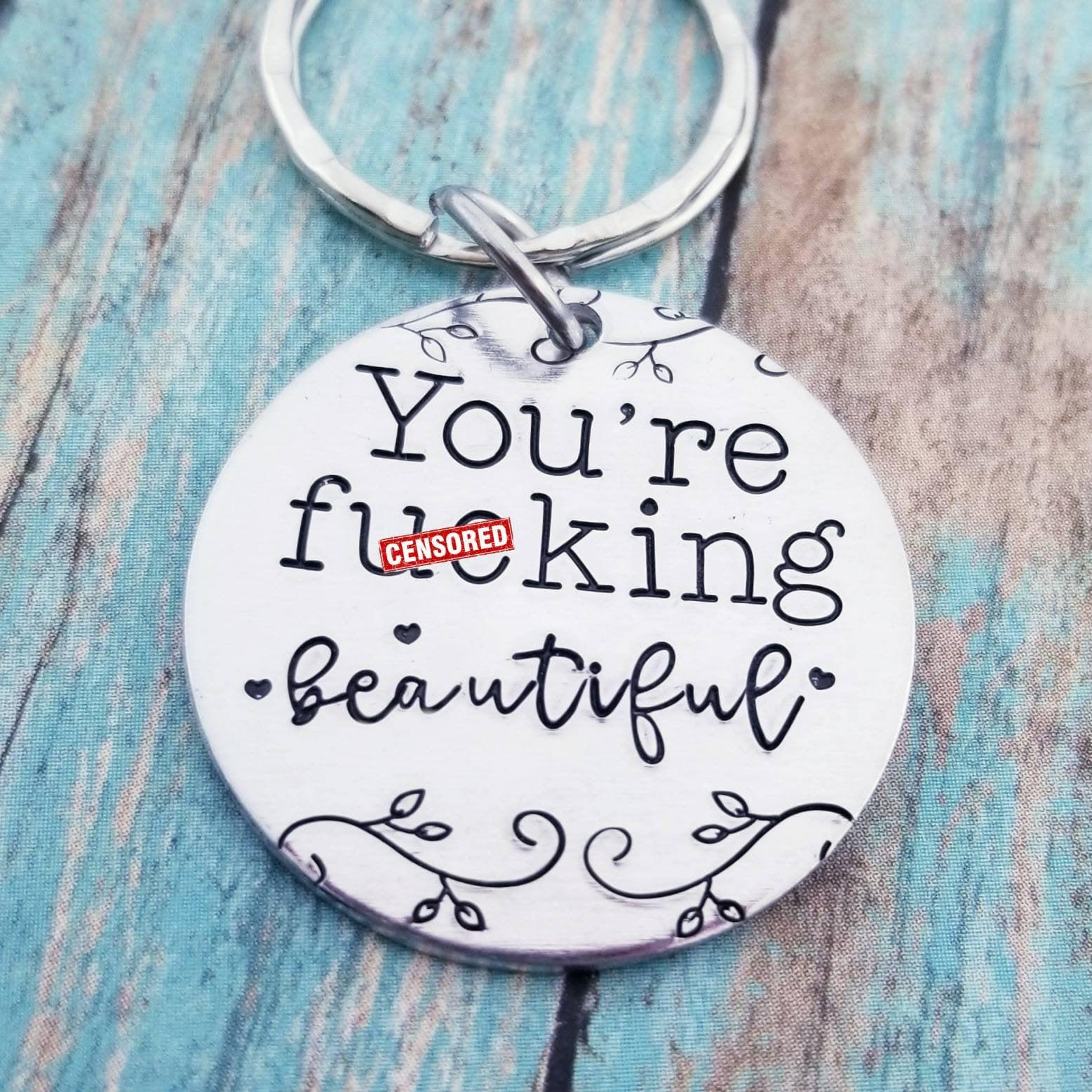 best friend mature fuck pick me up inspirational gift funny gift friend gift rude Ray of fucking sunshine keychain girlfriend gift