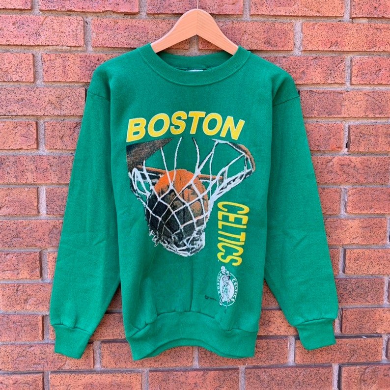Brand New Without Tags Vintage 90s Boston Celtics Crewneck Sweatshirt by Saturday\u2019s Hero from 1991!