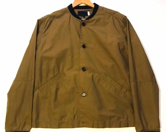 e7b4b396854de H M Olive Green Buttoned Bomber Jacket