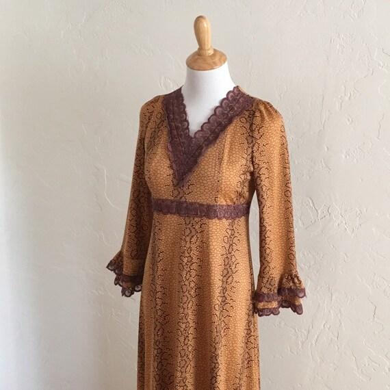 Autumn Nocturne Bell Sleeve Dress