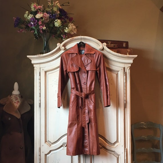 70s Classic Leather Trench