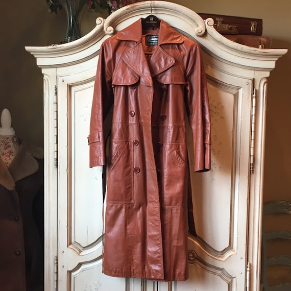 70s Classic Leather Trench - image 4