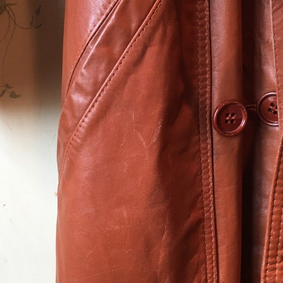 70s Classic Leather Trench - image 2