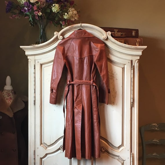 70s Classic Leather Trench - image 5