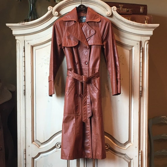 70s Classic Leather Trench - image 6