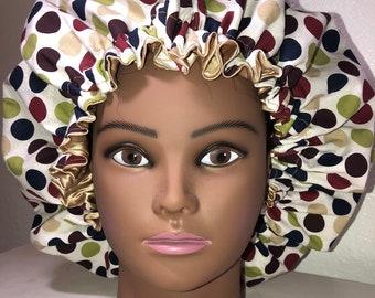 Mummy and Me Velvet satin lined sleeping hair bonnet for all hair type S,M,L,XL