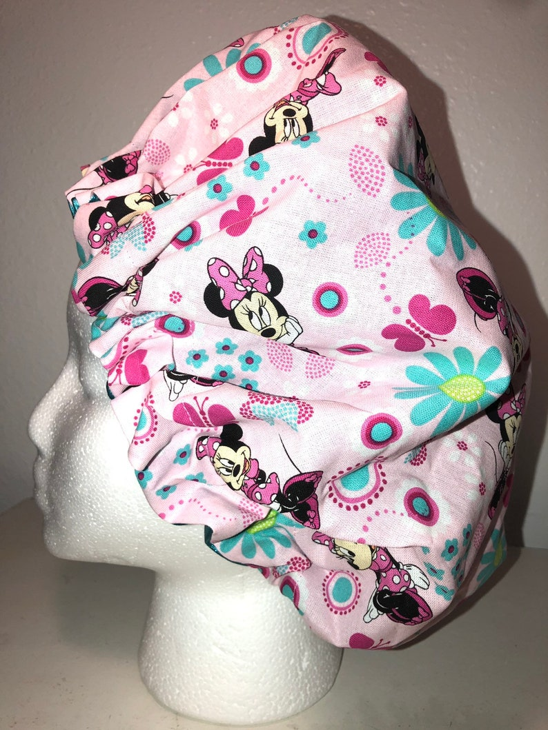ages 1-7 Minnie Mouse Hair Bonnet for Kids