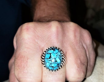 Arizona Turquoise Sterling Silver Statement Ring