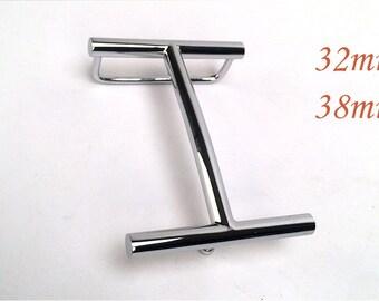 be5f444cdb mode or / argent 32mm 38mm H ceinture boucle centre bar boucle en acier  inoxydable bracelet fermoir tête de ceinture
