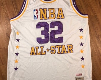 Vintage Mitchell   Ness Magic Johnson  32 NBA All star jersey Mens size 56  Preowned White c00b36fde