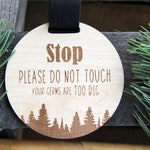 Trees Stop Do Not Touch Car Seat Sign, No Touching Baby Sign, Car Seat Warning