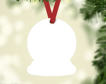 Snow Globe SUBLIMATABLE Unisub Hardwood Blank