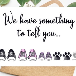 DIGITAL Baby Announcement Card We\u2019re Pregnant Card Pregnancy Reveal Card Surprise Baby Guess What Surprise Pregnancy Announcement Card