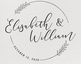 WEDDING STAMP Rubber Wedding Stamp Personalized Custom Diy Card Invitation